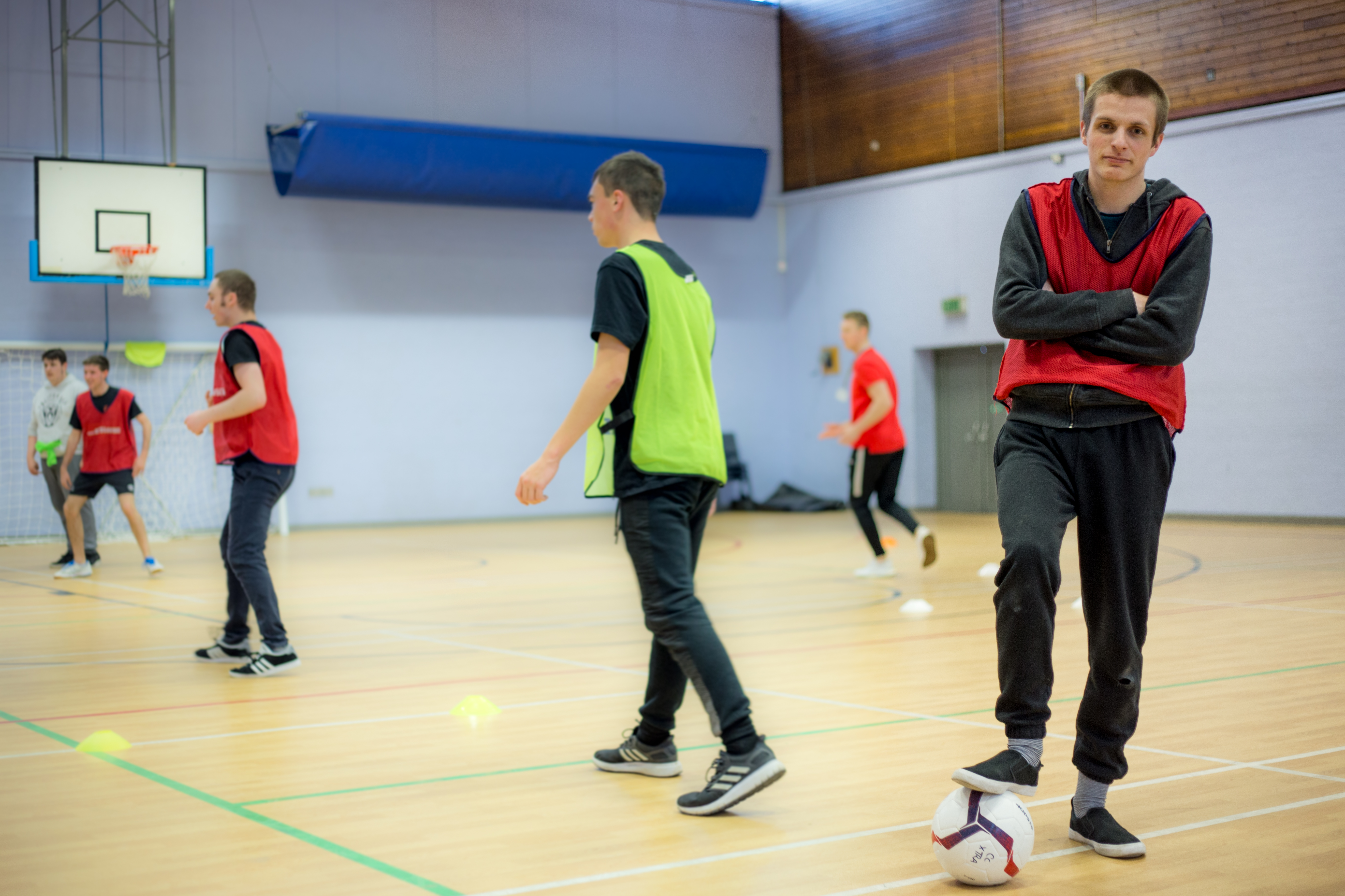 Football in the sports hall