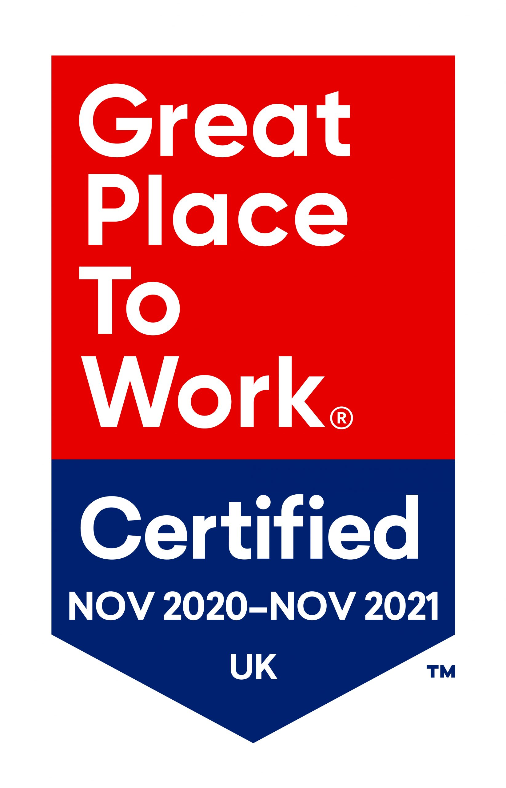 Chesterfield College Great Places to Work certification mark